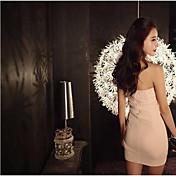 セクシーな甘い気質のレースのドレスドレスホルターネックドレス