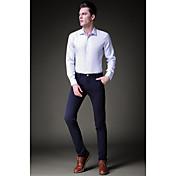 Hombre Clásico Media cintura Rígido Pantalones Pantalones,Color sólido N/A Primavera Otoño