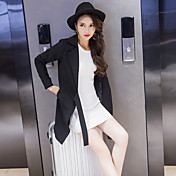 記号2017春の新しい女性のソリッド色の長いセクション長袖ウインドブレーカーのジャケット韓国韓国のスリム