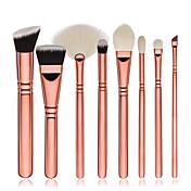 8pcs Sistemas de cepillo Cepillo para Colorete Pincel para Sombra de Ojos Cepillo Corrector Pincel Abanico Cepillo para Base Contour Brush