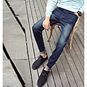 男性'のジーンズ男性の秋のストレッチパンツの足のズボン男性の青年韓国のスリムパンツのズボン610