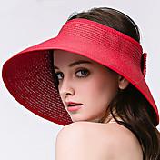 Mujer Verano Casual Paja Sombrero para el sol,Un Color