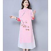 2017春と夏の梨茶のサービスは、中国の改善漢服のドレスの女性を描い