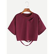 Aliexpressのホットホールのバット半袖セーターの女性