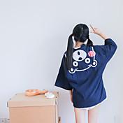 日本の着物のカーディガンのコートの女性を印刷する新しい風カーディガン綿の漫画のクマの滞在に署名