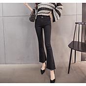 2017看板個のマイクロスピーカーは、スリムなタッセル弾性ジーンズの女性が薄い9点だったワイドレッグパンツを腰