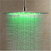 コンテンポラリー レインシャワー クロム 特徴-LED , シャワーヘッド