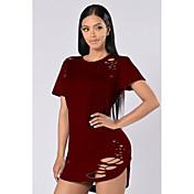 アマゾンヨーロッパの女性'ソリッドカラーコットンTシャツ燃える花バーストモデルはお金の量を実行する