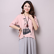 本当に2017夏の新しい文字パターン綿大きいサイズの女性半袖Tシャツの芸術を作ります