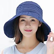 Mujer Verano Casual Nailon Sombrero para el sol,Un Color