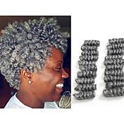 """Trenza de la torcedura Trenzas de cabello Trenzas crochet hinchable Curl 10"""" Cabello 100 % Kanekalon Negro / Strawberry Blonde Negro /"""