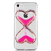 のために ラインストーン リキッド DIY ケース バックカバー ケース キラキラ 3Dカトゥーン ソフト TPU のために AppleiPhone 7プラス iPhone 7 iPhone 6s Plus iPhone 6 Plus iPhone 6s iphone 6