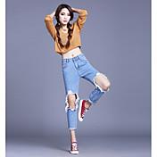 ハーレムパンツ穴の乞食ルーズジーンズ女性のBF風の同じ段落韓国版の公式サイトは薄い9フィートのズボンだった