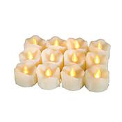 Juego de 12 velas votivas flameless superiores con el goteo con el temporizador batería-accionó velas llevadas vida de batería larga 200