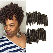 "Afro rizado Trenzas Trenzas de cabello Rizado hinchable Curl Trenzas crochet 10"" 100% kanekalon pelo Negro / Strawberry Blonde Negro /"