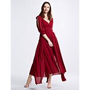 エレガントな宮殿ドレスビーチドレス2017新しい赤いドレス