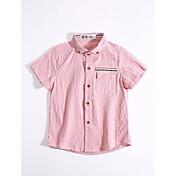 カジュアル/普段着 ゼブラプリント コットン シャツ 夏 半袖