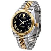 Tevise Hombre Pareja Reloj de Moda El reloj mecánico Cuerda Automática Calendario Resistente al Agua Luminoso suizo De Diseño Aleación