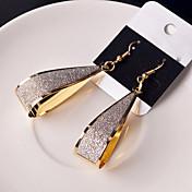 ドロップイヤリング 合金 ブラック シルバー ゴールデン ジュエリー のために 結婚式 パーティー 日常 カジュアル 2 個