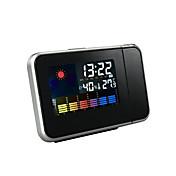 温度と湿度を表示する家庭用投影アラーム時計
