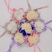 10 Rama Seda PU Otros Rosas Flor de Mesa Flores Artificiales