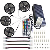 20m (4 * 5m) 5050 rgb 600 leds luces de tira 44key ir kit de control remoto 12v 10a fuente de alimentación
