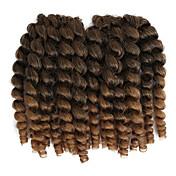 Trenzas ganchillo pre-loop Trenzas de cabello 8 pulgadas Cabello estilo jamaicano China Castaño rojizo Negro / Strawberry Blonde Negro /