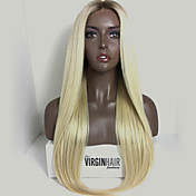 Pelucas virginales brasileñas del cordón del pelo del color rubio pelucas virginas rectas del pelo del pelo humano del frente del cordón