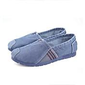 Hombre Zapatos Tejido Primavera Otoño Confort Suelas con luz Zapatos de taco bajo y Slip-On Paseo Para Casual Gris Azul Marino