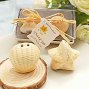 貝殻とヒトデペッパーシェイカーは結婚式の好意を設定するbetergifts®パーティー用品