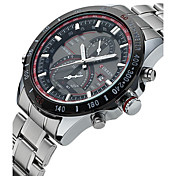 CURREN Hombre Reloj de Moda Reloj de Pulsera Reloj creativo único Reloj Casual Reloj Deportivo Cuarzo Calendario Acero Inoxidable Banda