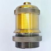 e27ゴールドアンティークランプホルダー長い糸高品質の照明アクセサリー