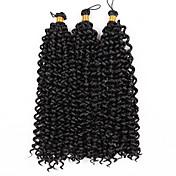 カーリーブレイズ 3個 ヘアブレイズ ウェーブ 14inch グラデーション・ブレーズヘア 100%カネカロンヘア ブラック ブラック/ストロベリーブロンド ブラック/ミディアムオーバーン ブラック/バーガンディ ミディアムブラウン ブレイズヘア ヘアエクステンション