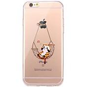 用途 iPhone X iPhone 8 ケース カバー クリア パターン バックカバー ケース 猫 ソフト TPU のために Apple iPhone X iPhone 8 Plus iPhone 8 iPhone 7プラス iPhone 7 iPhone 6s Plus