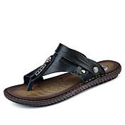 メンズ 靴 ナパ革 夏 コンフォートシューズ サンダル 用途 ブラック ダークブルー