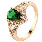 女性用 指輪石座 バンドリング 指輪 キュービックジルコニア ラインストーンベーシック サークル ユニーク 幾何学形 正方形 クラシック Elegant 耐久 ファッション 愛らしいです あり かわいいスタイル 欧米の 映画ジュエリー 高級ジュエリー シンプルなスタイル
