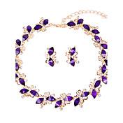 Mujer Juego de Joyas Collar / pulsera Los sistemas nupciales de la joyería Cristal Clásico Moda Euramerican Estilo Simple Boda Fiesta