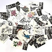 Tatuajes Adhesivos Series de Animal Series de Flor Series de Tótem Serie de dibujos animados Serie romántica Modelo Parte Lumbar