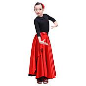 Baile Latino Pantalones y Faldas Niños Actuación Seda artificial Raso de Satén 1 Pieza Cintura Baja Faldas
