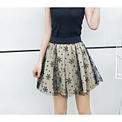 Mujer Lápices Faldas - Estampado, Bloques