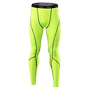 21Grams Hombre Pantalones ajustados de running Leggings de gimnasio Secado rápido Diseño Anatómico Suave Compresión Bandas Reflectantes
