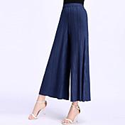 Mujer Chic de Calle Perneras anchas Pantalones - Un Color