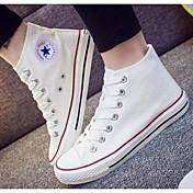 Mujer Zapatos Tela Primavera Otoño Confort Zapatillas de deporte Para Casual Blanco Negro Rojo Azul