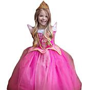 Princesa Fantasias de Cosplay Criança Natal Dia da Criança Ano Novo Festival/Celebração Trajes da Noite das Bruxas Rose Purpurina