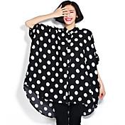 レディース カジュアル/普段着 Tシャツ,ストリートファッション ラウンドネック 水玉 ポリエステル 半袖