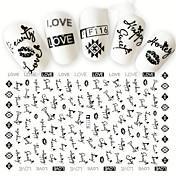 1 Adesivos para Manicure Artística Estampado Efeito 3D Artigos DIY maquiagem Cosméticos Designs para Manicure