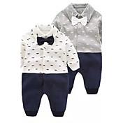 赤ちゃん ファッション 純色 花/植物 綿100% ワンピース 秋 春 長袖