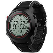 Hombre Reloj digital DigitalAltímetro Compass Termómetro Calendario Cronógrafo Resistente al Agua Dos Husos Horarios Podómetro Cronómetro