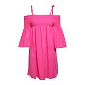 レディース ワーク シース ドレス,ソリッド ストライプ カラーブロック ストラップ 膝上 半袖 コットン 春 ミッドライズ マイクロエラスティック ミディアム