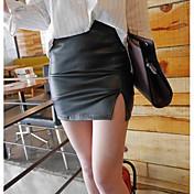 Mujer Sensual Discoteca Mini Faldas,Corte Bodycon Otro Verano Un Color